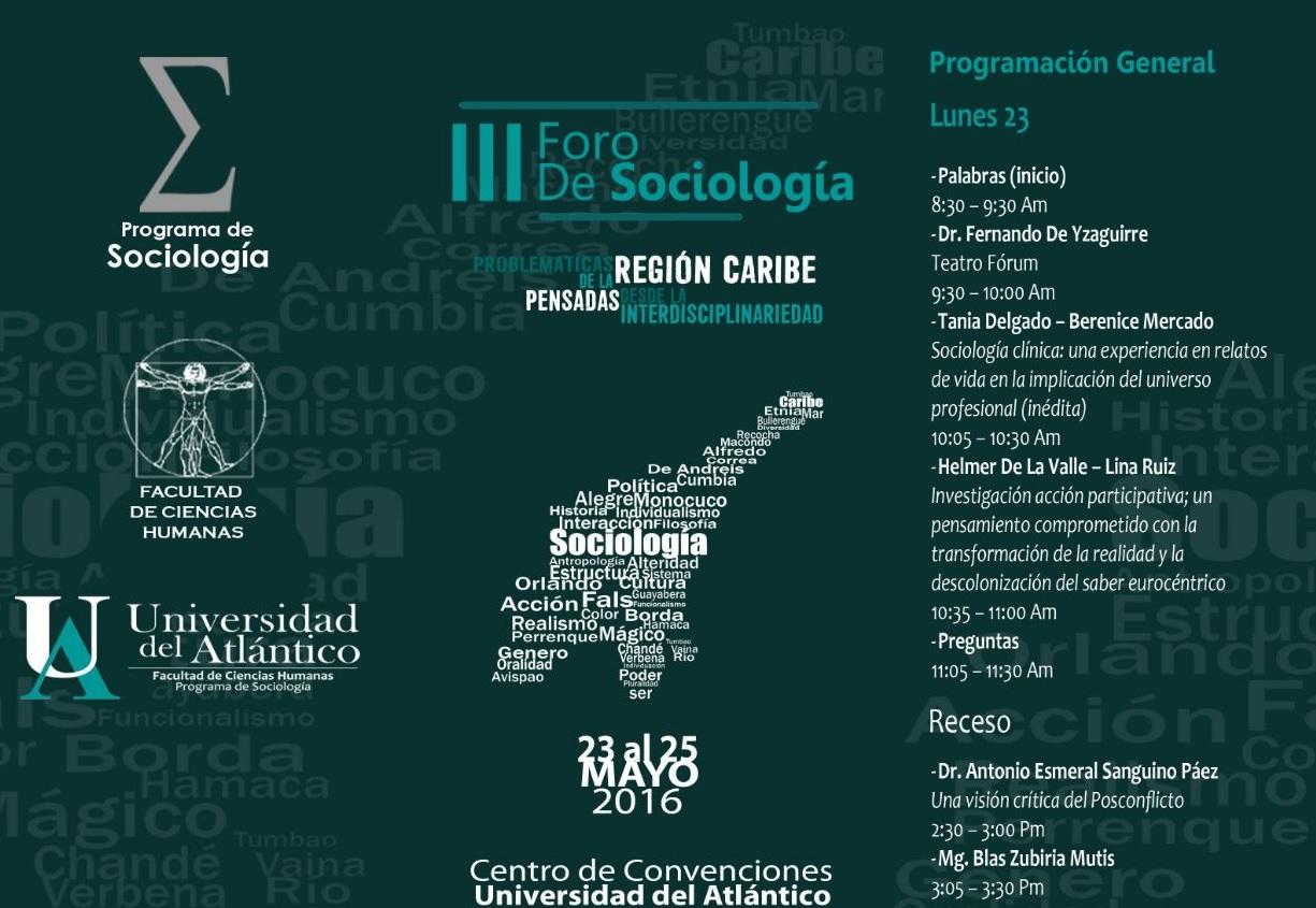 3Foro Sociologia - Sociología Clínica